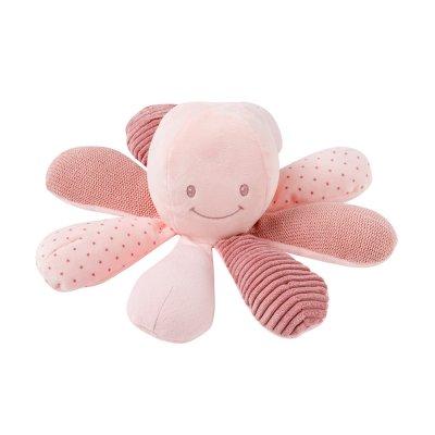 Peluche bébé pieuvre activités rose Nattou