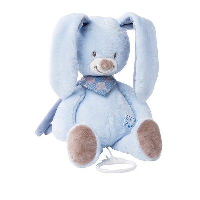 Peluche bébé musicale le lapin bibou Nattou