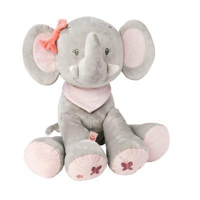 Mega peluche bébé adèle l'elephant 75 cm Nattou