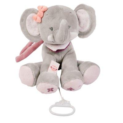 Peluche bébé musicale adèle l'elephant Nattou