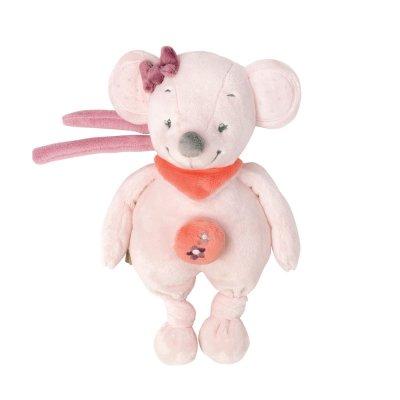 Peluche bébé mini musicale valentine la souris Nattou
