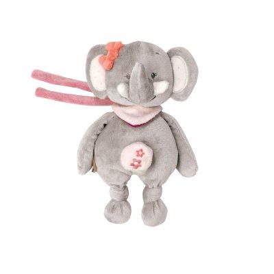 Peluche bébé mini musicale adèle l'eléphant Nattou