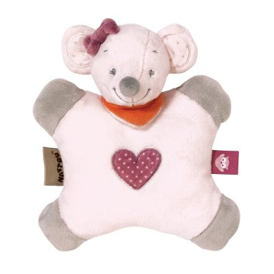 Doudou flatsie valentine la souris Nattou