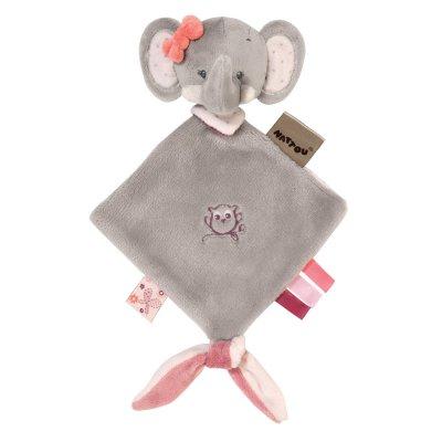 Mini doudou adèle l'elephant Nattou