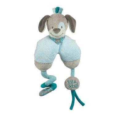 Jouets de lit bébé maxi toy chien cyril Nattou