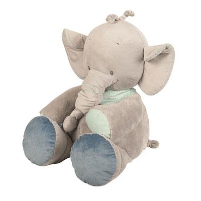 Peluche bébé 75cm l'éléphant jack Nattou
