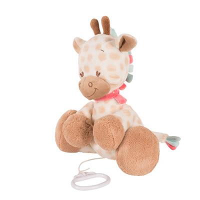 Peluche bébé musical la girafe charlotte Nattou