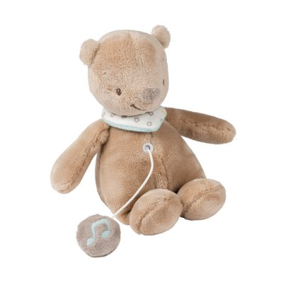 Peluche bébé mini musical basile l'ours Nattou