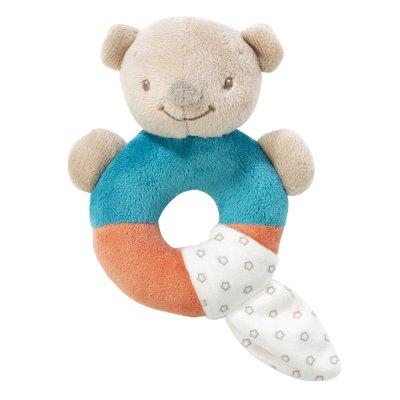 Hochet anneau basile l'ours Nattou