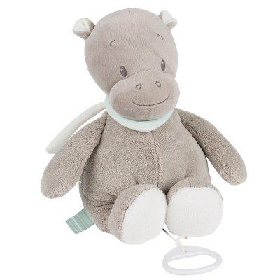 Peluche bébé musicale hippopotame hippolyte Nattou