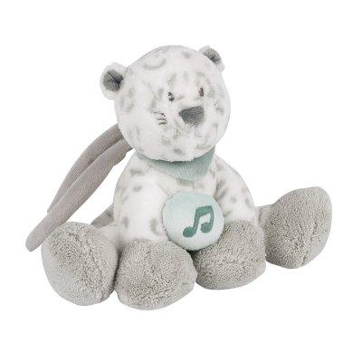 Peluche bébé mini musicale panthère des neiges léa Nattou
