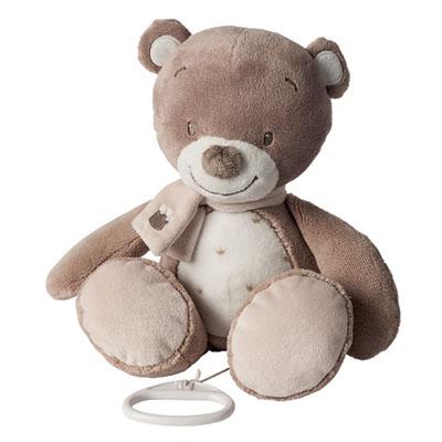 Peluche musicale l'ours tom Nattou