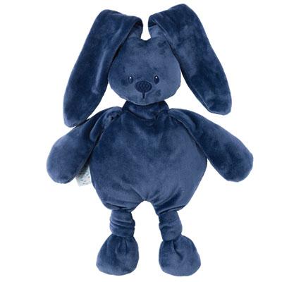 Peluche bébé lapidou bleu marine Nattou