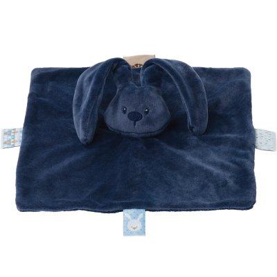 Doudou lapidou bleu marine Nattou