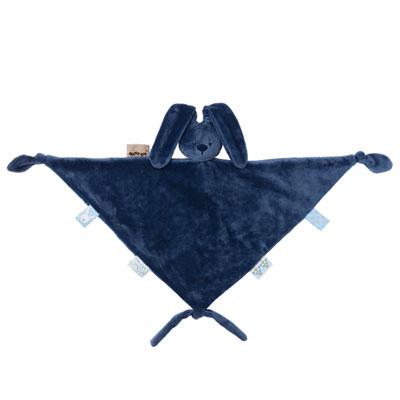 Maxi doudou lapidou bleu marine Nattou
