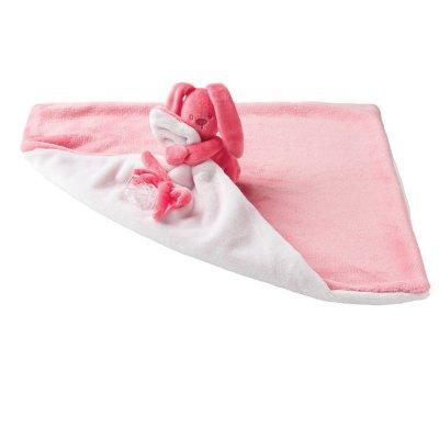 Doudou couverture lapidou corail - rose ciel Nattou