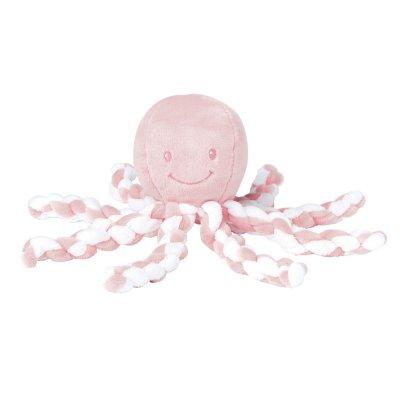 Peluche bébé pieuvre pink/white Nattou