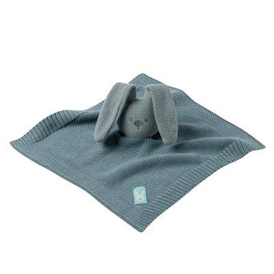 Doudou tricot lapidou vert de gris Nattou