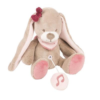 Peluche bébé mini-musicale le lapin nina Nattou