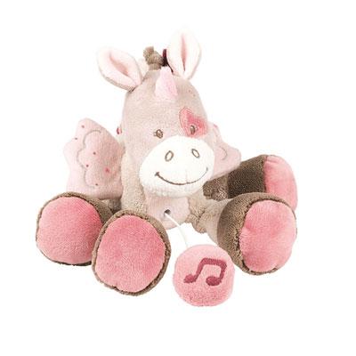 Peluche bébé mini-musicale la licorne jade Nattou