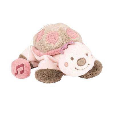 Peluche bébé mini-musicale la tortue lili Nattou