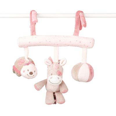 Jouet de lit bébé maxi toy lili, jade et nina Nattou