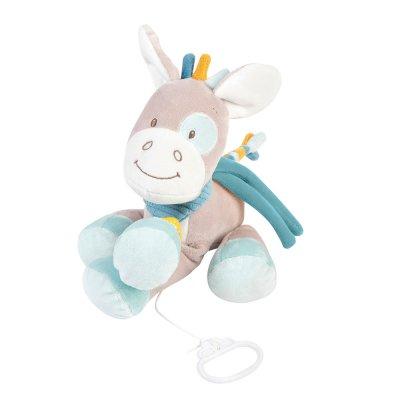 Peluche bébé musicale tim le cheval Nattou