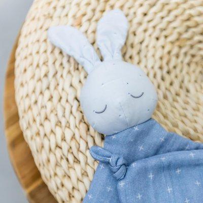 Doudou lapin pure bleu Nattou