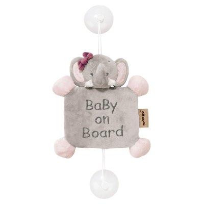 Signalétique baby on board adèle l'eléphant Nattou