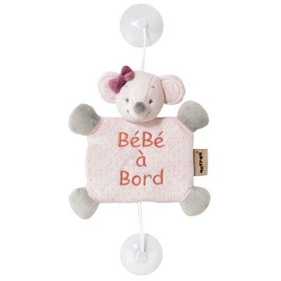 Bébé à bord valentine la souris Nattou