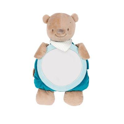 Jouet de voyage bébé miroir pour voiture basile l'ours Nattou