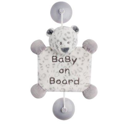 Signalétique baby on board panthère des neiges léa Nattou