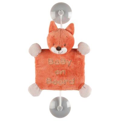 Signalétique bébé à bord oscar le renard Nattou