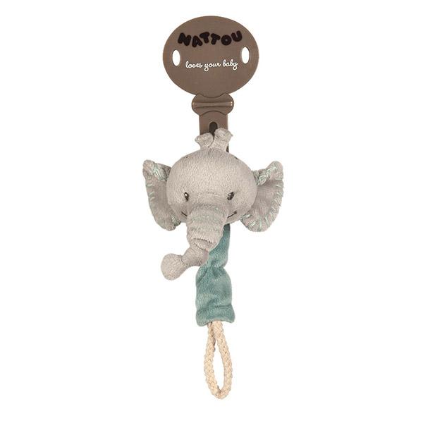 Attache sucette l'éléphant jack Nattou