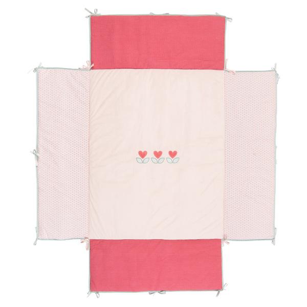 Tapis de parc avec bords 95 x 75 cm charlotte et rose Nattou