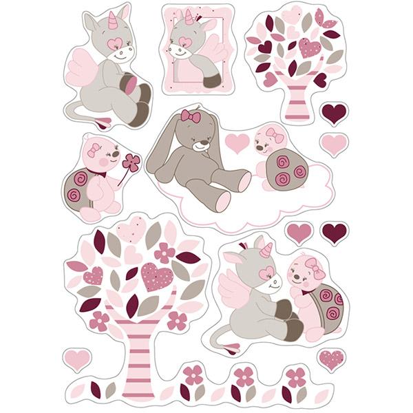 ... Sticker et transfert chambre bébé Stickers décoratifs lili, jade et