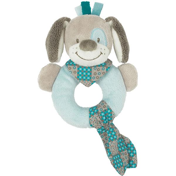 Hochet anneau chien cyril Nattou