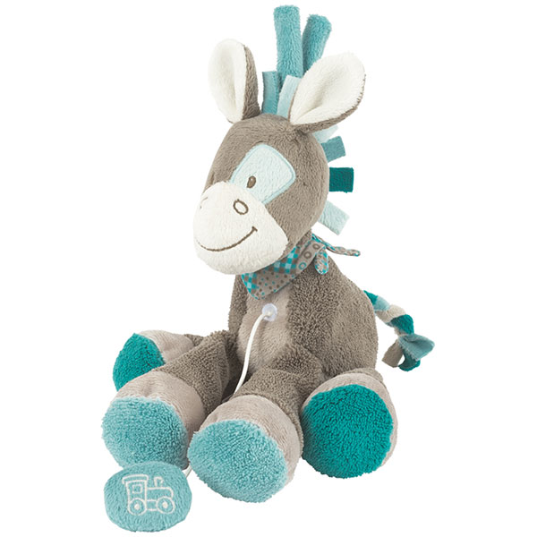 Peluche bébé cheval mini musical gaston Nattou