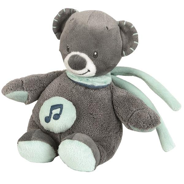Peluche bébé mini-musical l'ours jules Nattou