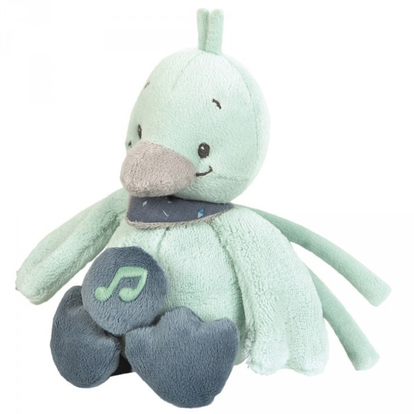 Peluche bébé mini-musical le canard nestor Nattou