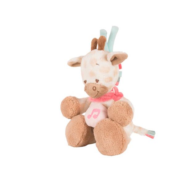 Peluche bébé mini musical la girafe charlotte Nattou