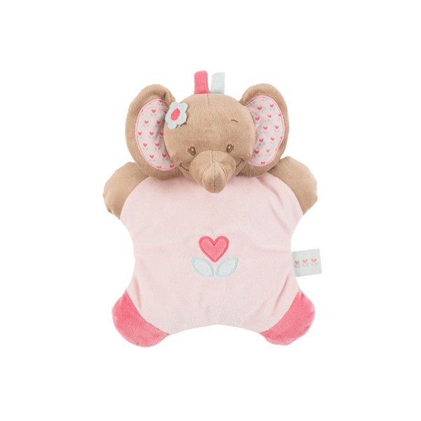 Doudou flatsie l'élephant rose Nattou