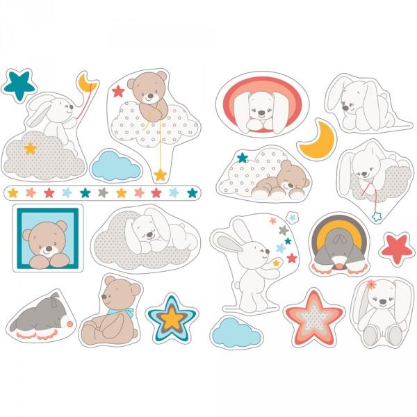 Stickers décoratifs mia et basile