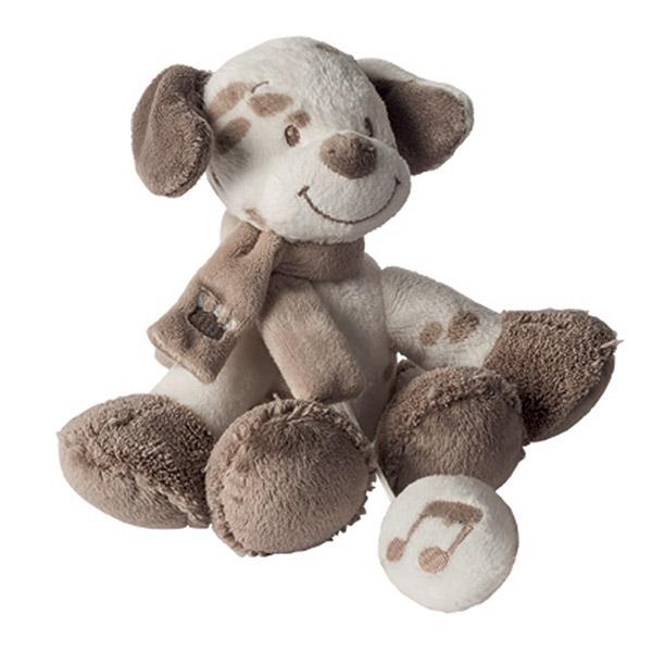 Peluche bébé mini-musical le chien max Nattou