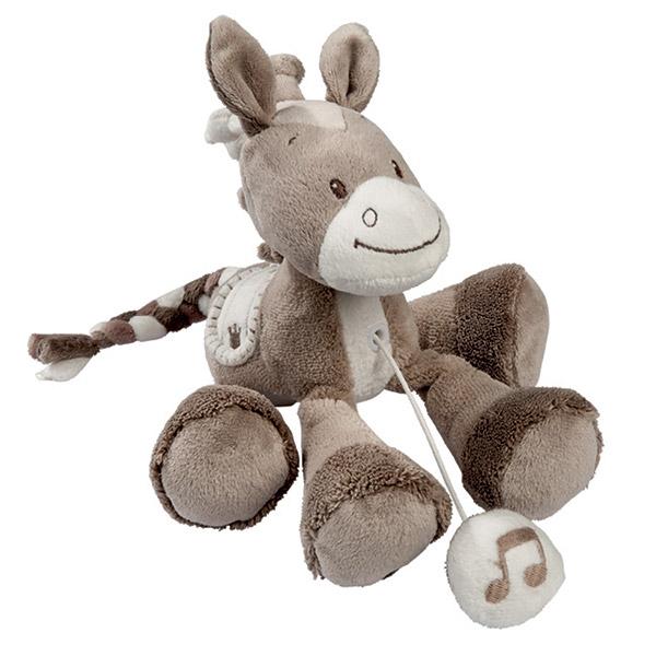 Peluche bébé mini-musical le cheval noa Nattou