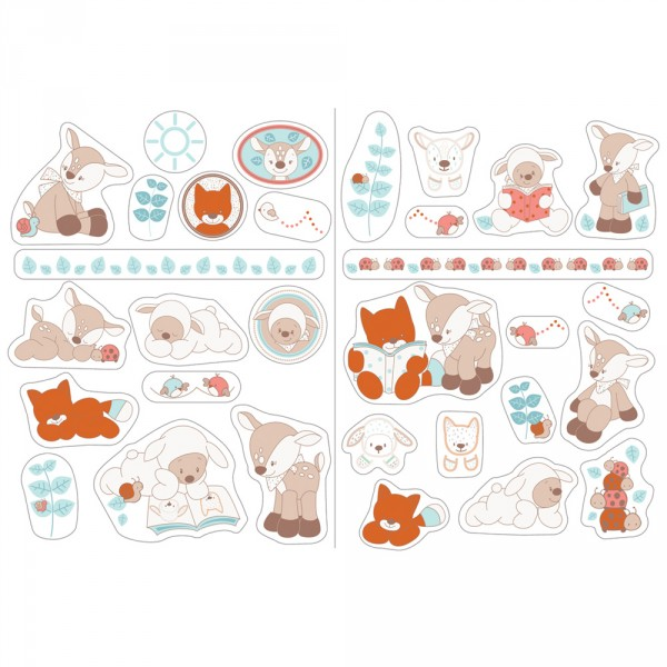 Stickers décoratifs fanny et oscar