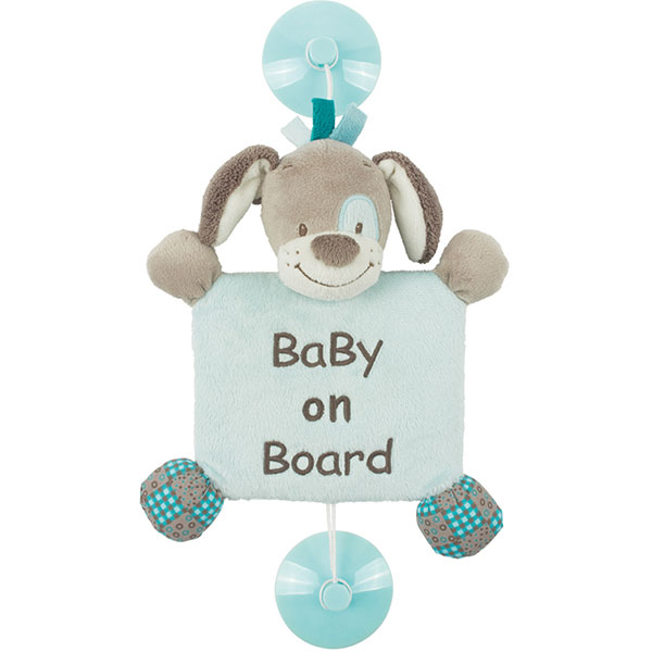 Signalétique baby on board chien cyril Nattou