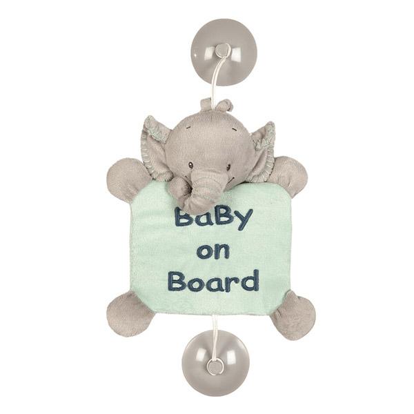 Signalétique bébé à bord l'eléphant jack Nattou
