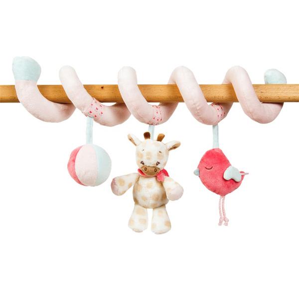 Jouets de lit bébé sprirale charlotte et rose Nattou