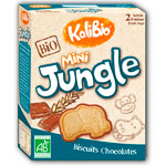 Biscuit mini jungle (2 sachets x 80 g) 160 g (kalibio) pas cher